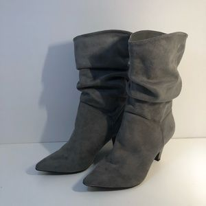 Charlotte Russe Grey Suede Boots